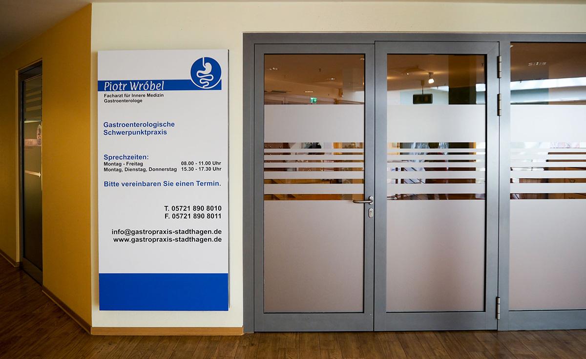 Praxis Wrobel Eingang in Stadthagen