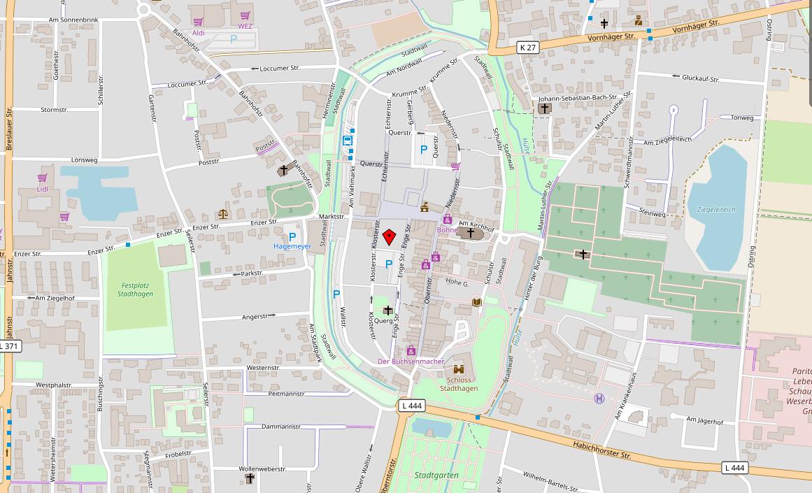 Anfahrt Gastropraxis Wrobel in Stadthagen - Facharzt für Innere Medizin Gastroenterologe